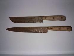 2 db nagypengéjű régi fanyelű kés!