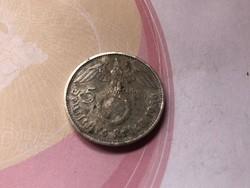 1936 ezüst horogkeresztes 5 márka,