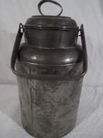Fém - tejeskanna - acél - vastag - nagyon régi Osztrák fém 2 literes  hibátlan állapotban