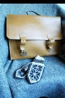Vintage bőrtáska bőr táska válltáska unisex iskolatáska messenger bag