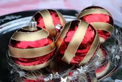 üveg karácsonyfadísz 4 darab