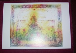 Aláírt Gross Arnold képeslap Madarak és angyalok