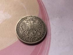 1861 ezüst florin szép patinával
