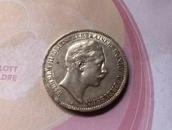 1907 ezüst 5 márka 27,7 gramm 0,900 Ritkább