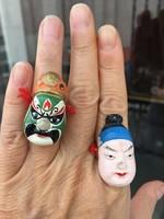 Kabuki Vintage Japán Terracotta Bábuk