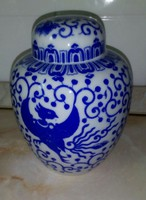 Régi keleti,  porcelán teafű tartó