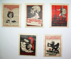 Divéky József háborús kiállítási levélzárók 1917.