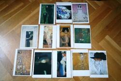 23 db Gustav Klimt képeslapok képeslap képeslap gyűjtemény Taschen Verlag