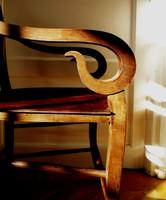 Egy pár légies biedermeier a valódi fa karosszék szék fotel dolgozóba ebédlőbe