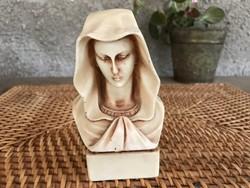 Ritka antik Szűz Mária büszt, jelzett, ismeretlen anyag