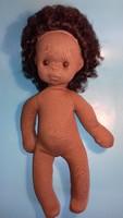 Antik régi baba barna 40 cm