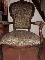 Antik neobarokk gyönyörű karfás fotel