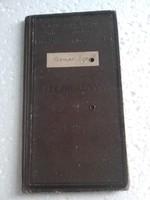 Leczkekönyv 1934/35