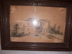 Meissner szignóval Akvarell
