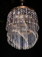 Gyönyörű  üvegpálcás  kristálycsillár