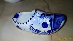 Antik, holland, delft-i  porcelán papucs,hamus