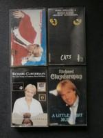 Macskák és Richard Clayderman kazetták 4  db