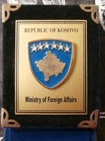 Koszovó Külügyminisztérium jelvény