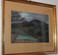 Kapos Nándor képcsarnokos festmény 55,5 cm X 65 cm
