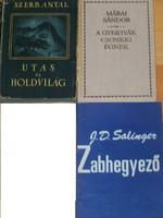 Szerb Antal,Márai Sándor,Salinger