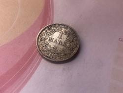 """1899""""G"""" ezüst 1 márka,Ritka!!! szép darab"""