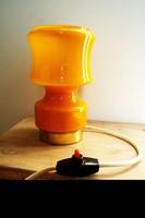 Vintage fújt üveg lámpa hangulatlámpa asztali lámpa a 70-as évekből éjjelilámpa