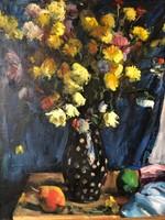 P. Bak János virágcsendélet
