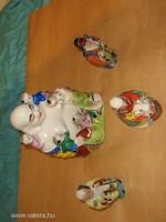 Egy Buddha és +3 porcelán szobor