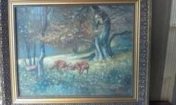 Szepesi : őzek viadala festmény!