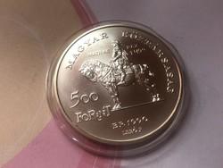 1990 Mátyás ezüst 500 Ft 28 gramm 0,900