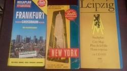 Régi városi térképek, Frankfurt, Lipcse, New York
