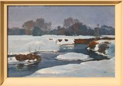 Holba Tivadar: A patak télen