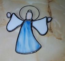 Tiffany jellegű üveg angyalka