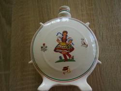 Gránit porcelán kulacs magyaros mintával