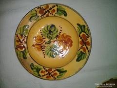 Antik kerámia tányér, falitányér