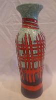 Zsűrizett retro iparművész kerámia váza 33 cm