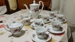 Chinese porcelain coffee set for sale! Beautiful rosy set!