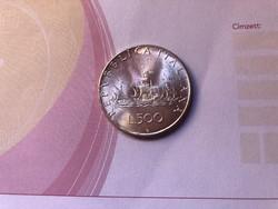 1966 ezüst 500 líra 11 gramm 0,835,gyönyörű db