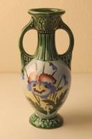 Szecessziós kétfülű kerámia váza
