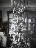 RÉGI KARÁCSONY FOTÓ FÉNYKÉP FELDÍSZITETT KARÁCSONYFA 1912 BUDAPEST GYÜJTEMÉNYI