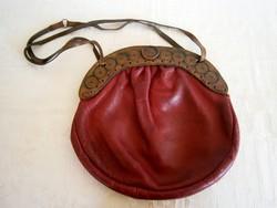 Nagyon régi női bőr táska retikül ... 0082742d14
