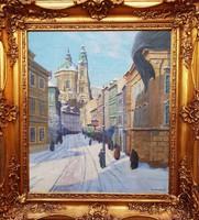 Gyömrői Sándor József / Salzburgi téli utca