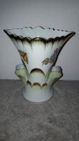Herendi porcelán Viktória mintás váza 13 cm
