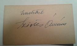 Szirtes Ádám autogram