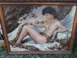 Teuchert Károly nagy méretű festménye!!