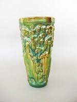 Zsolnay eozin,szüretelő váza,szüretelő pohár