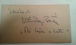 Várkonyi Zoltán autogram