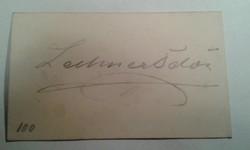 Lechner Ödön autogram