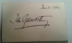 John Galsworthy autogram