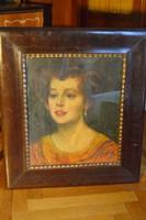 Márk Lajos festmény - női portré